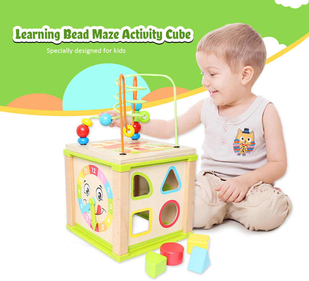 Baby Educational Toy Kids Wooden Bead Maze (3)