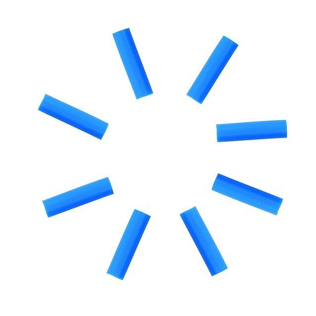 8 paket silikon saman ipuçları 6 mm (0.24 inç) çap paslanmaz çelik kamışlar