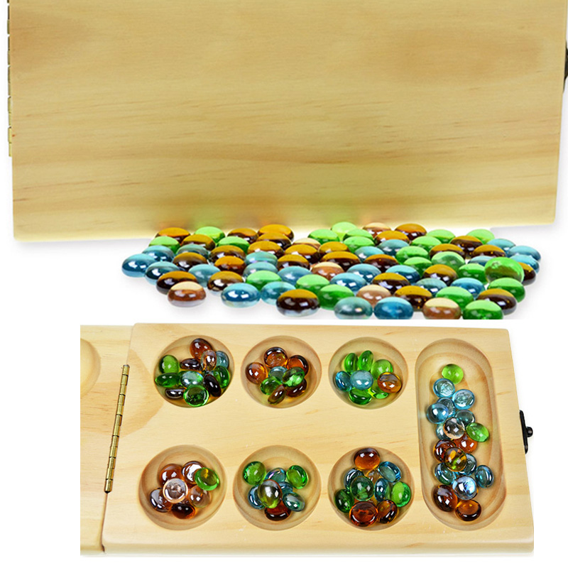 Africa Mancala Board Game Funny Entertainment Game Play with Family/Friends/Party Best Gift for Children