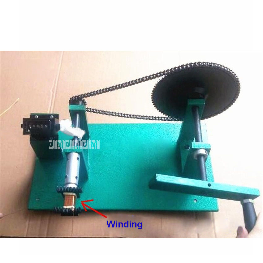 New Arrival Automatic Counting Hand Crank / Manual Winding Machine Electronic Transformer Hand Coil Counting Winding Machine free shipping 10pcs 943nw 943nw plate coil transformer coil winding tms92903ct