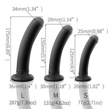 Soft Silicone Anal Butt Plug Smooth Black Dildo Intimate Sex Toys for Adults Men