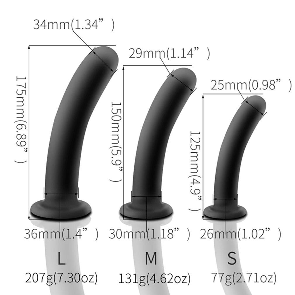 Weiche Silikon Anal Butt Plug Glatte Schwarz Dildo Intime Sex Spielzeug für Erwachsene Männer Frauen Masturbator Höhepunkt Simulator Keine Vibrator
