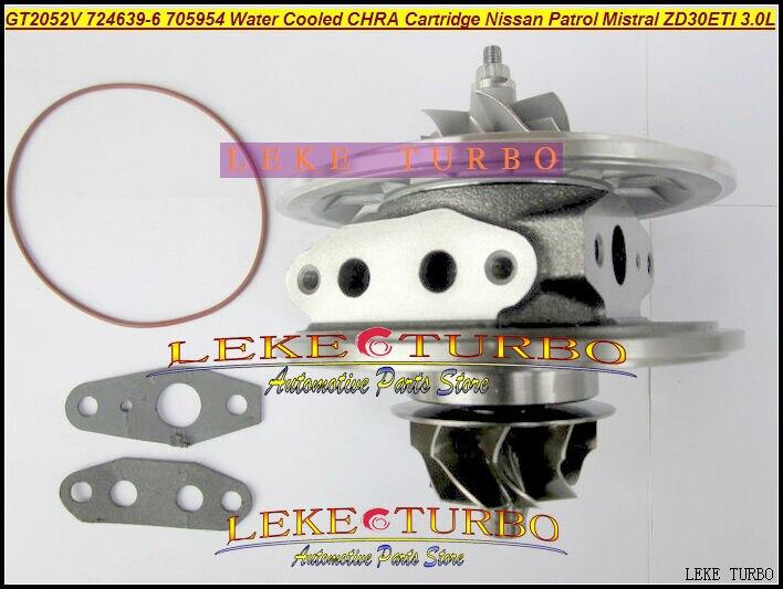 Water Cooled Turbo Cartridge CHRA GT2052V 724639-5006S 724639 705954 705954-0002 For NISSAN Patrol MISTRAL Terrano ZD30DTI 3.0L