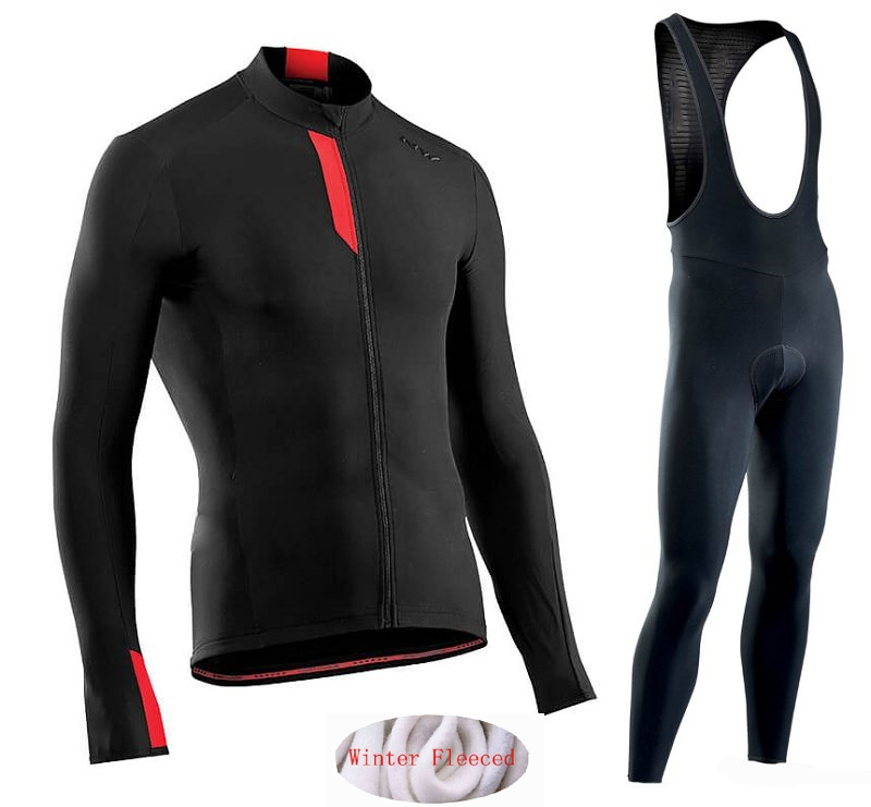 Image 5 - Northwave 2019 Winter thermal fleece Set Cycling Clothes NW men's Jersey suit Sport riding bike MTB clothing Bib Pants Warm sets-in Cycling Sets from Sports & Entertainment