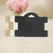 ZerongE bijoux emballage carte 200 pièces kraft/noir/blanc papier cheveux accessoires bandeau Clips affichage carte suspendue 10.5*7.7cm