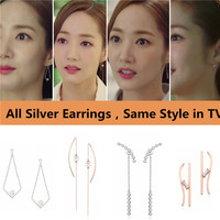 What's Wrong with Secretary Kim Mi so Earrings Park Min Young Same S925 Sterling Silver Rings Earrings Stud Pendant Costume New