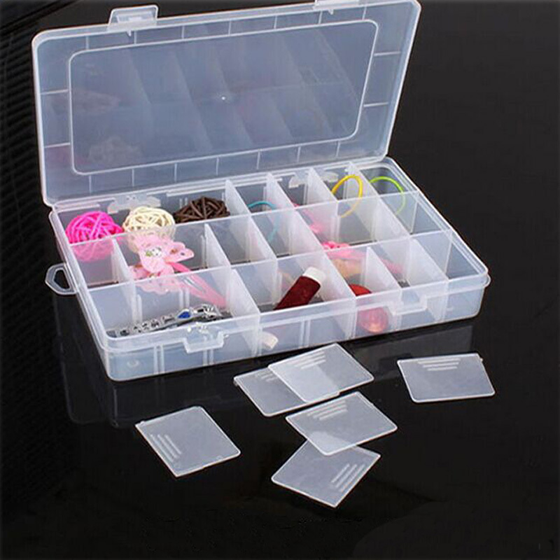 Boutique jewelry storage Adjustable Plastic 24 Compartment Storage