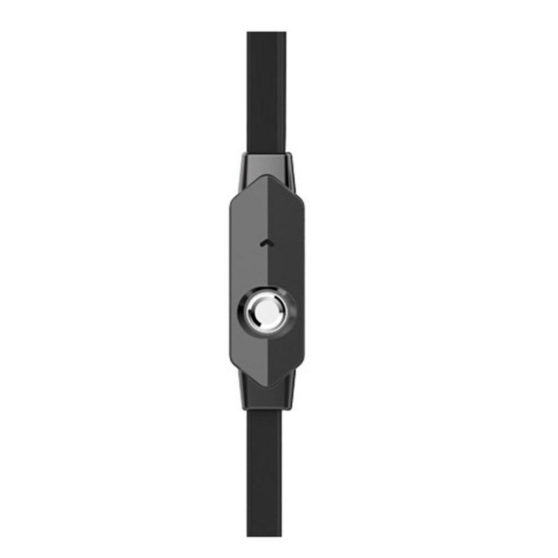 3.5mm Auriculares Bass Auriculares Estéreo de Auriculares Auriculares Con Micrófono Para Todos Los Teléfonos Negro/Blanco