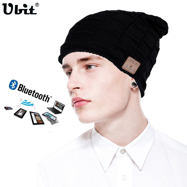 Ubit Wireless Bluetooth Earphone Headset Speaker Beanies Unisex Smart Clothing Winter Outdoor Sport Stereo Music Hat Headphone