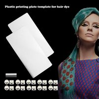 1 Set Plastic Printing Plate DIY Hair Tattoo Color Tint Template Stamp Hairdressing Salon Hair Dye