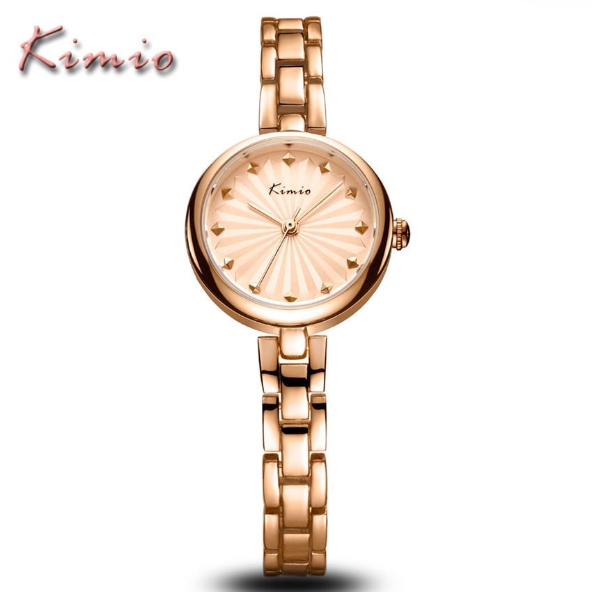 KIMIO Brand Luxury Gold Business Ladies Stainless Steel Watches Fashion Classic Relogio Feminino Clock Women Quartz