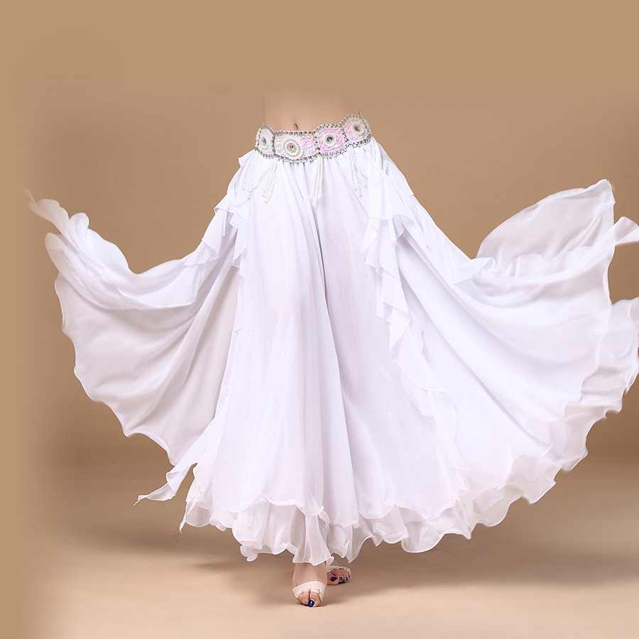 9879ed0ec58 Лидер продаж! Новинка 2016 12D шифон танец живота юбка для женщин танец  живота разрез юбки 11 цветов Танец живота конкуренции одежда