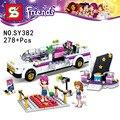 278 unids amigos Pop Star Limusina Kit de Construcción de Conjuntos minis Leping amigos para niña juguetes Bloques de amigas SY382