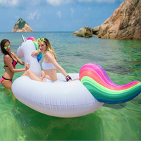 Inflatable Unicorn Swim Ring Pool Float Pool Swimming Ring Adult Kids Float Buoy Pool Inflatable Toys Unicorn Swim Floats