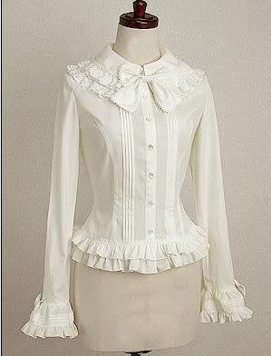2017 nouveau modèle Blouse en coton blanc Lolita chemise avec dentelle vêtement quotidien sweety personnaliser pour les adultes et les enfants de grande taille