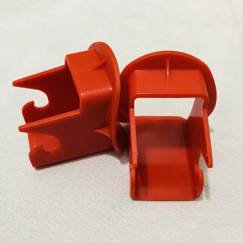 Новая направляющая защелки 2 шт.! Пассажирские автомобильные сиденья для безопасности детей, общая направляющая защелки с интерфейсом Isofix(ISOFIX), запчасти для автомобильных сидений - Цвет: 2 pieces red