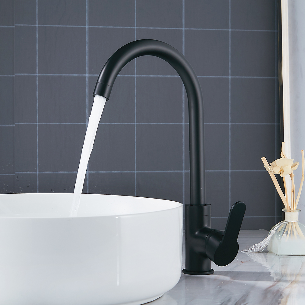 Black Modern Basin Faucets Sink Mixer Taps Kitchen Bathroom Taps Single Lever Faucet Black basin mixer unique single top lever waterfall basin mixer faucet gold color basin sink taps