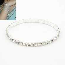 LEMOER Fashion Bracelet Jewelry Korean Style Chic Trendy Single Row Crystal Rhinestone Stretch Bracelet Wholesale(China)