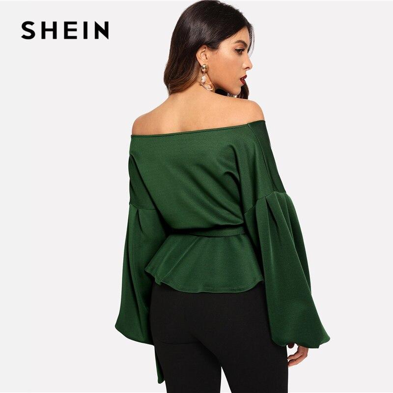 aa91b62f0413e SHEIN ropa negro profundo V cuello Surplice cuello cintura manga capa cabo  capa 2018 Streetwear moderno