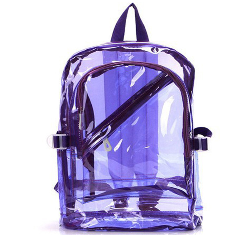 2017 NEW Waterproof Backpack Transparent Clear Plastic for Teenage Girls PVC School Bags Shoulders Bag space backpack notebook