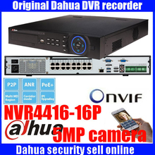 Original ENGLISH firmware DAHUA NVR with 16PoE ports 4HDD support up to 5MP Recording Resolution onvif NVR4416-16P NVR4432-16P