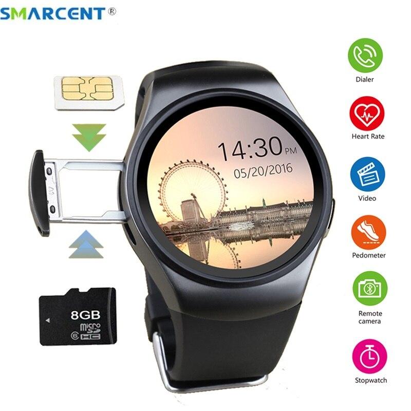 Smarcent KW18 montre intelligente carte Sim moniteur de fréquence cardiaque montres intelligentes pour Samsung Xiaomi Android IOS Reloj Inteligente