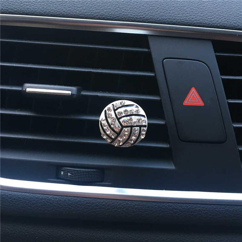 Interni Auto Decorazione Diamante Calcio Basket Vent Clip Auto Diffusore di Aroma Sapore Auto Profumo Deodorante In Accessori Auto