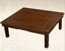 Korean Coffee Table Folding Leg Rectangle 90X75cm Asian Antique Style Living Room Furniture Floor Traditional Dining Table Wood