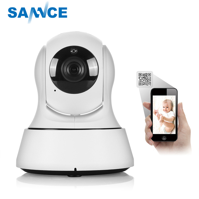 US $22 24 11% OFF|SANNCE Home Security Baby Monitor IP Camera Wi Fi  Wireless Mini Network Camera Surveillance Wifi 720P Night Vision CCTV  Camera-in