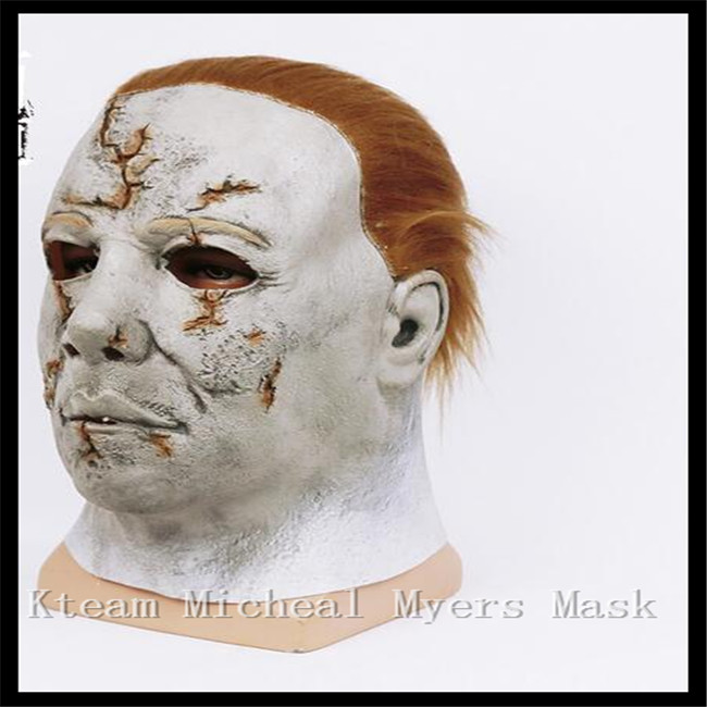 Top Quality 100% Latex Horror Movie Theme Mask Halloween Michael Myers Mask, Adult Party Masquerade Cosplay Latex Facw Mask