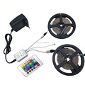 LED strip licht kit tira led 12v mono-color 5M/10M smd 3528/2835/5050/5630 multicolor strip lights with power adapter+IR remote