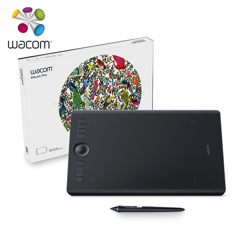 US $398 67 7% OFF Wacom Intuos Pro PTH 660 Standard / Paper Edition Multi  Touch Digital Tablet Drawing Tablets 8192 Pressure Level-in Digital Tablets