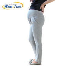 2017 New Arrival Designer Good Quality Light Grey Cotton Maternity Winter Leggings Comfortable Warm leggings For Pregnant Women