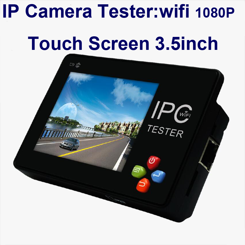 CCTV Camera Tester 3.5 inch 4K H.265 IP & CVBS Android system IP Camera tester touch screen, IP+ Analog Tester Built-in WIFI ...