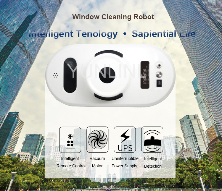 Electric Window Cleaning Robot Remote Control Glass Window Cleaner Glass/ Floor Cleaning Machine remote control wet and dry function auto clean anti falling magnetic electric window cleaner robot