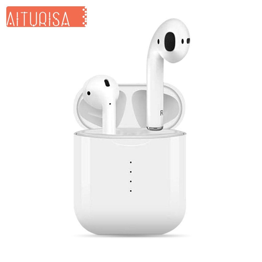 Écouteurs sans fil Bluetooth 5.0 réduction automatique du bruit appairage étanche vrais écouteurs sans fil avec 400 mAh boîte de charge
