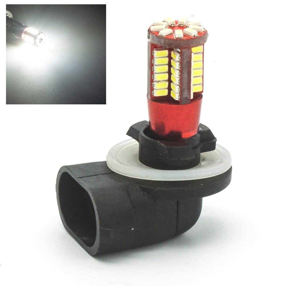 881 PGJ13 57 3014 SMD Car LED White Lights DC 12V Fog Lights Bulb Lamp