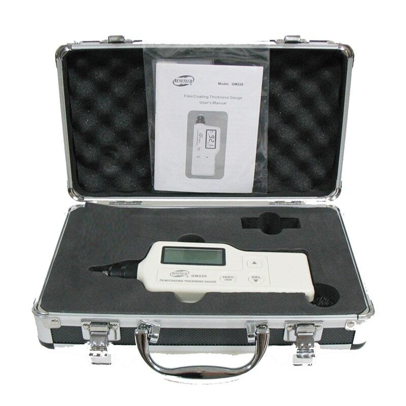 Portable single thickness gauge Digital Coating ThicknessTester LCD backlight display Measuring range: 0 ~ 1800