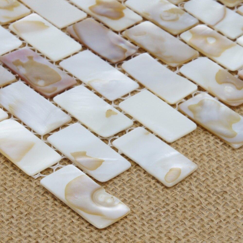 Perlmutt Auster Fischgrät Shell Mosaik fliesen für Küche ...
