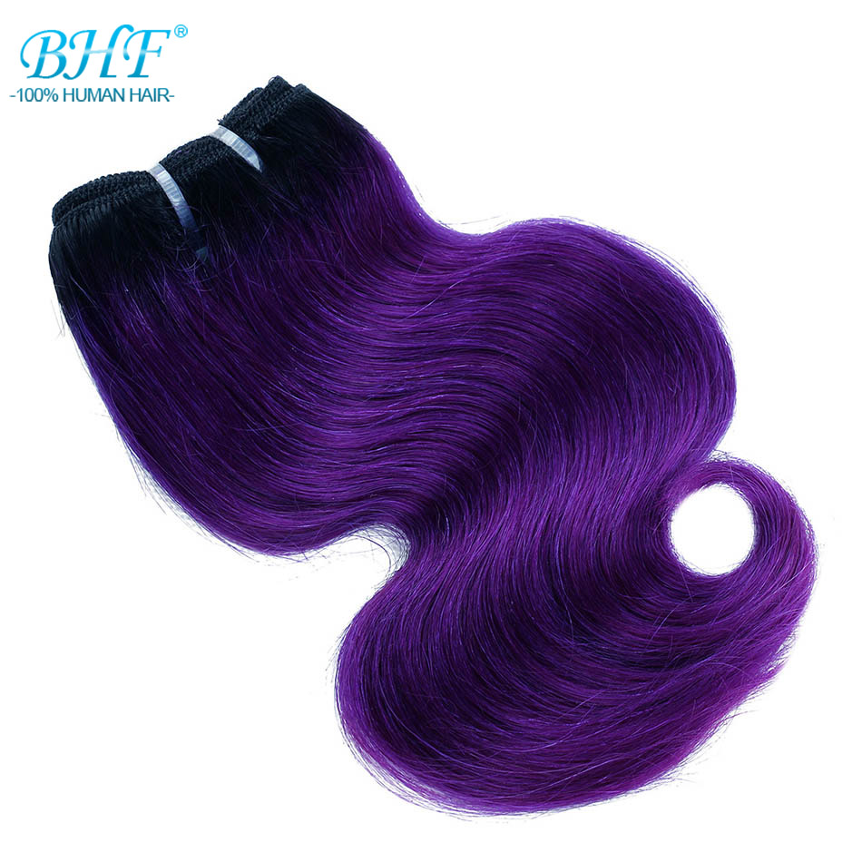 Image 3 - BHF 100% Human Hair Body Wave 3pcs lot With Closure Non remy 8inch 50g/pack Hair Extensions-in 3/4 Bundles with Closure from Hair Extensions & Wigs
