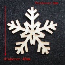 Free shipping 4.8cm 100pcs/bag wholesale high quality snow die cutting Angle  wooden Christmas decorations 017012011