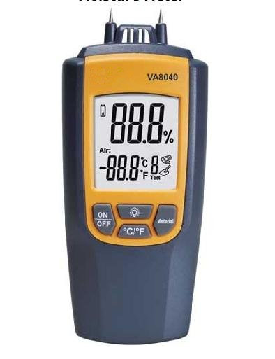 Hot Sale High Precision Accuracy Portable Moisture Meter VA8040 Wood Building Materials Humidity Digital Measuring InstrumentHot Sale High Precision Accuracy Portable Moisture Meter VA8040 Wood Building Materials Humidity Digital Measuring Instrument