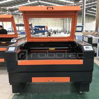 Robotec co2 laser machine for wood mdf plywood cutting engraving, laser wood engraving machine with 550W exhaust fan