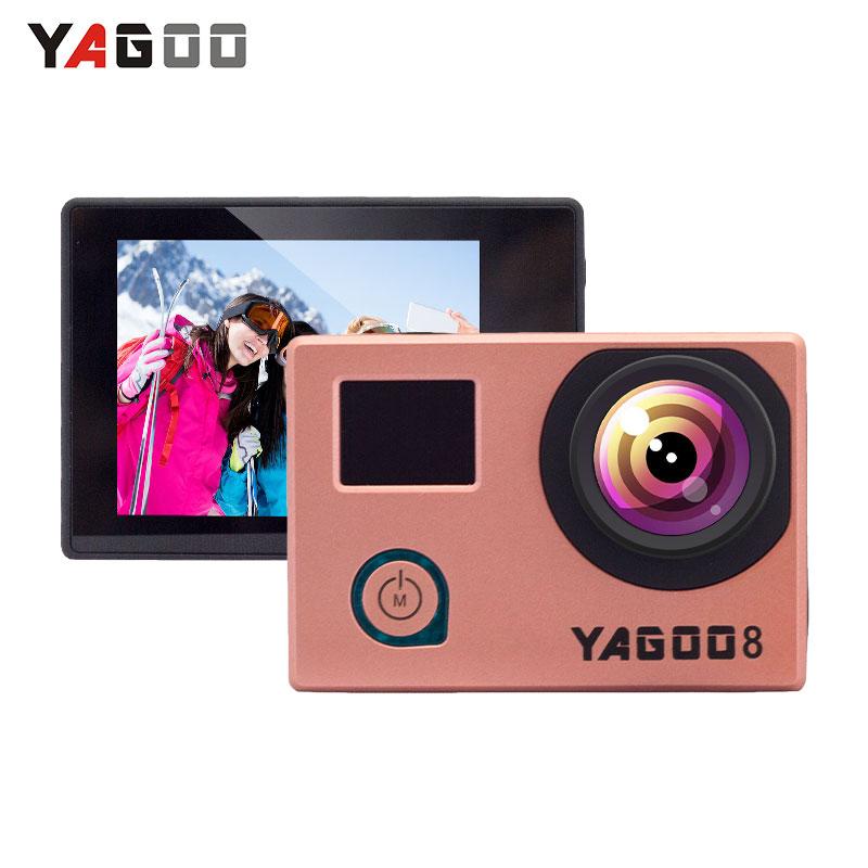 Waterproof Action Camera 4k Original YAGOO8 Ultra HD 4K/24fps WiFi 1080P/60FPS 2.0 LCD 170D Novatek96660 Mini Sport Cam