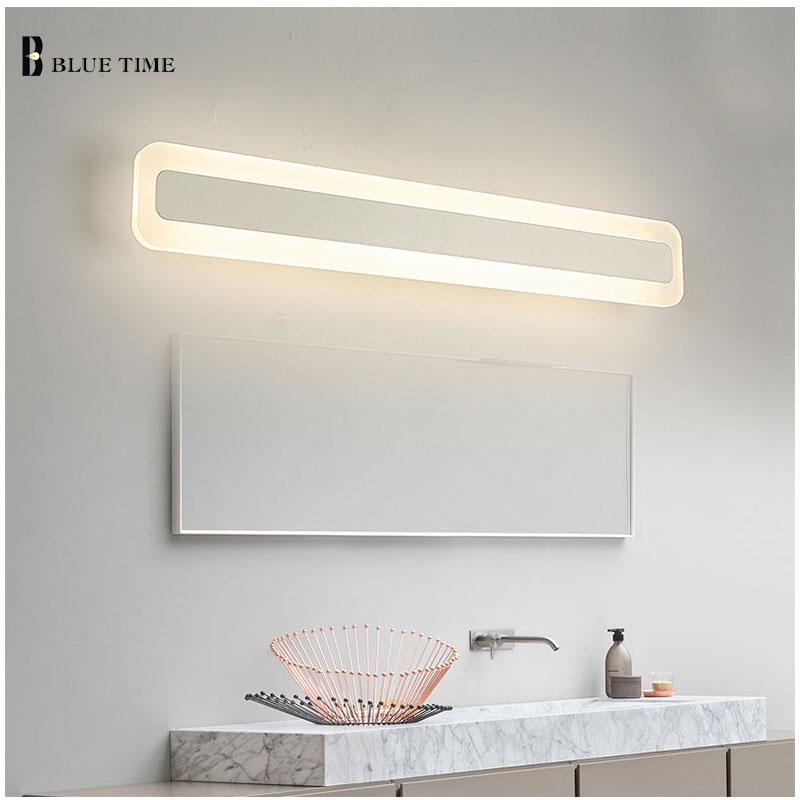 Акрил Ванная комната зеркало передний свет светодиодный настенный светильник современный для Ванная комната Спальня светодиодный Бра Нас...