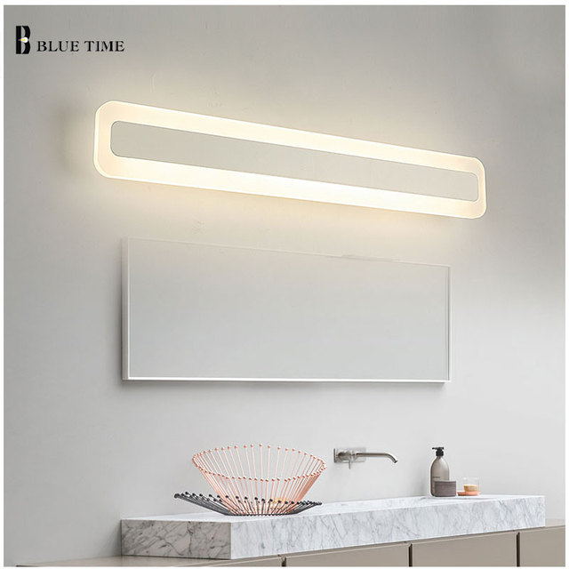 Acrylic Bathroom Mirror Front Light LED Wall Lamp Modern For Bathroom  Bedroom LED Sconces Wall Lights
