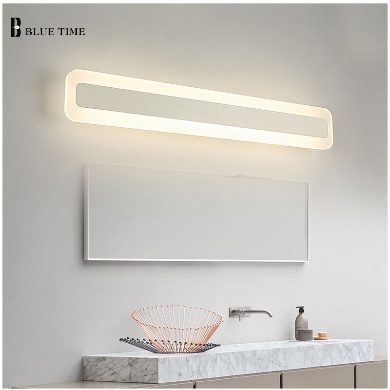 Bathroom Mirror Front Light LED Wall Lamp Modern For Bathroom Bedroom Acrylic LED Sconces Wall LightsLuminaria 120 100 80 60CM luxury modern white acrylic 12w led bathroom wall lamp mirror front fashion wall light showroom washroom wall lamp