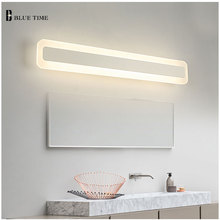 Bathroom Mirror Front Light LED Wall Lamp Modern For Bathroom Bedroom Acrylic LED Sconces Wall LightsLuminaria 120 100 80 60CM