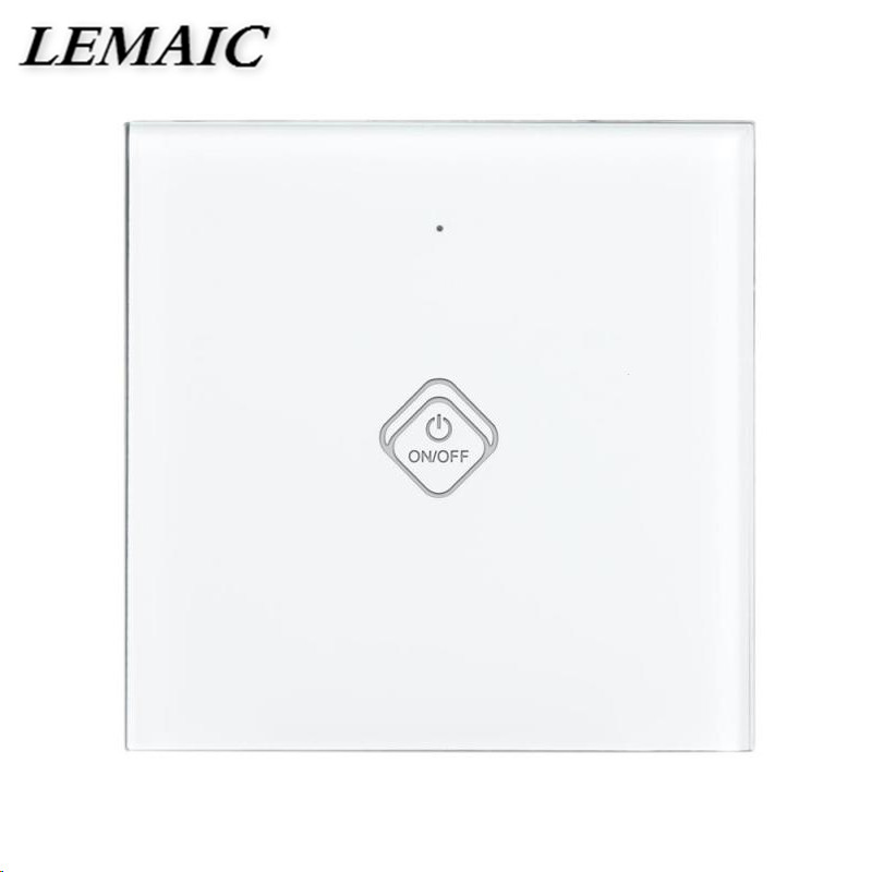 LEMAIC WiFi Smart Switch Waterproof Touch Panel w/ APP Remote Control Amazon Alexa Google Home Timing Function for EU Plug lemaic wifi smart switch waterproof touch panel w app remote control amazon alexa google home timing function for eu plug