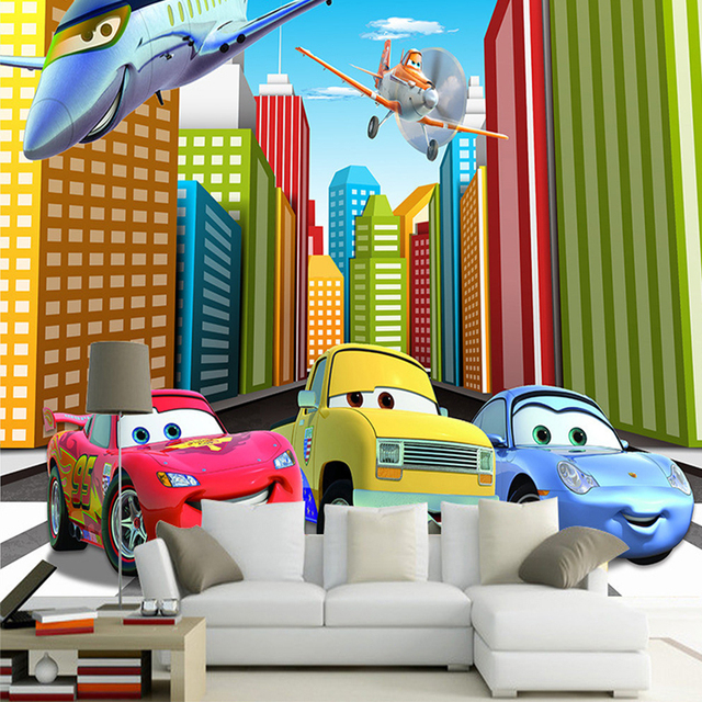 Cartoon Car wall stickers for kids rooms boy's room poster ...